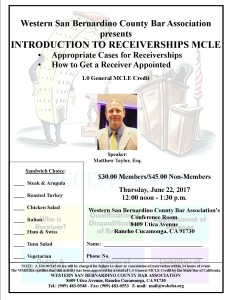 Introduction to Receiverships flyer