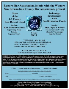 2018 East Meets West Flyer